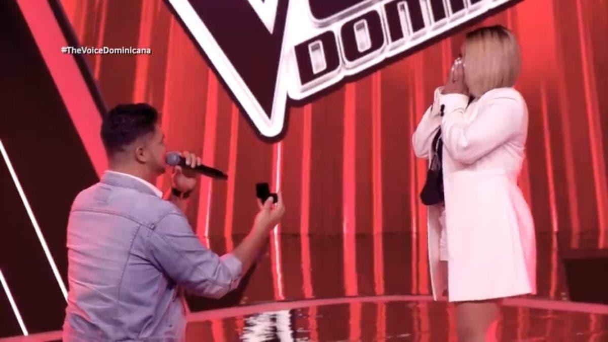 Video: Tercera entrega de The Voice Dominicana termina en pedida de matrimonio