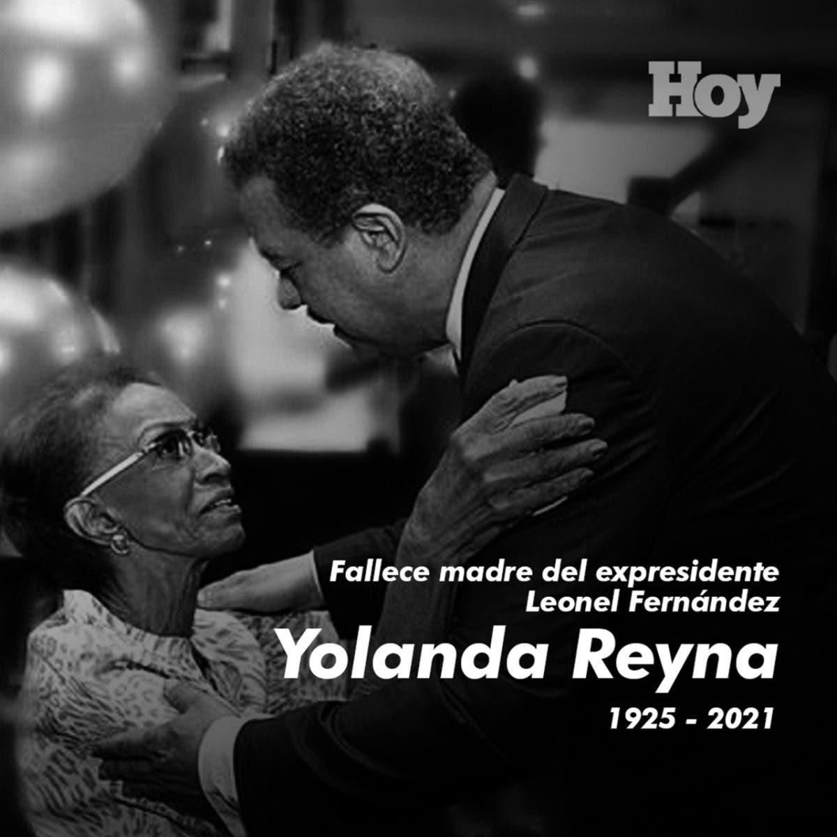 Con este mensaje, Leonel Fernández informó el fallecimiento de su madre: Doña Yolanda