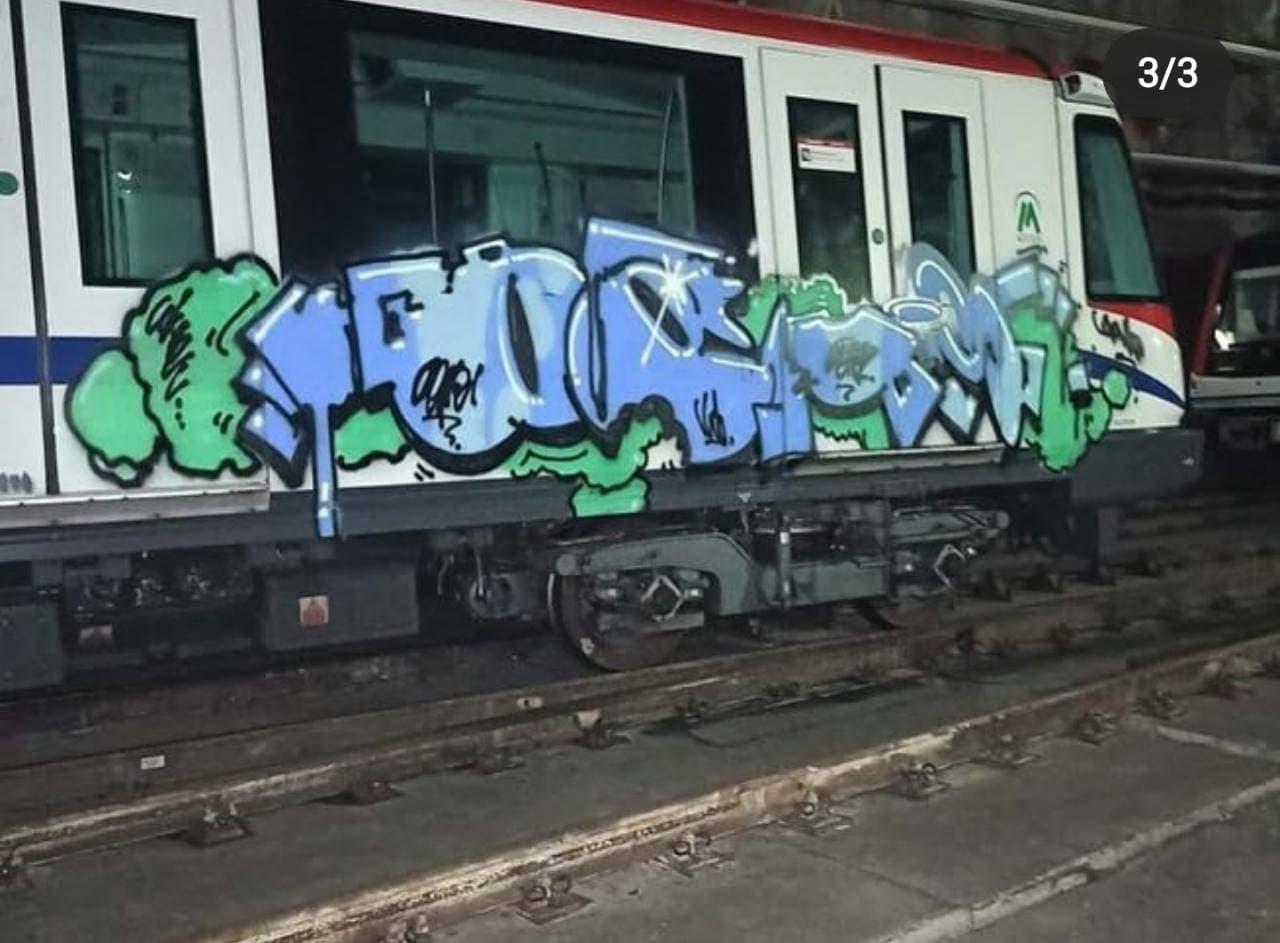 Investigan vandalismo contra algunos vagones del Metro de Santo Domingo