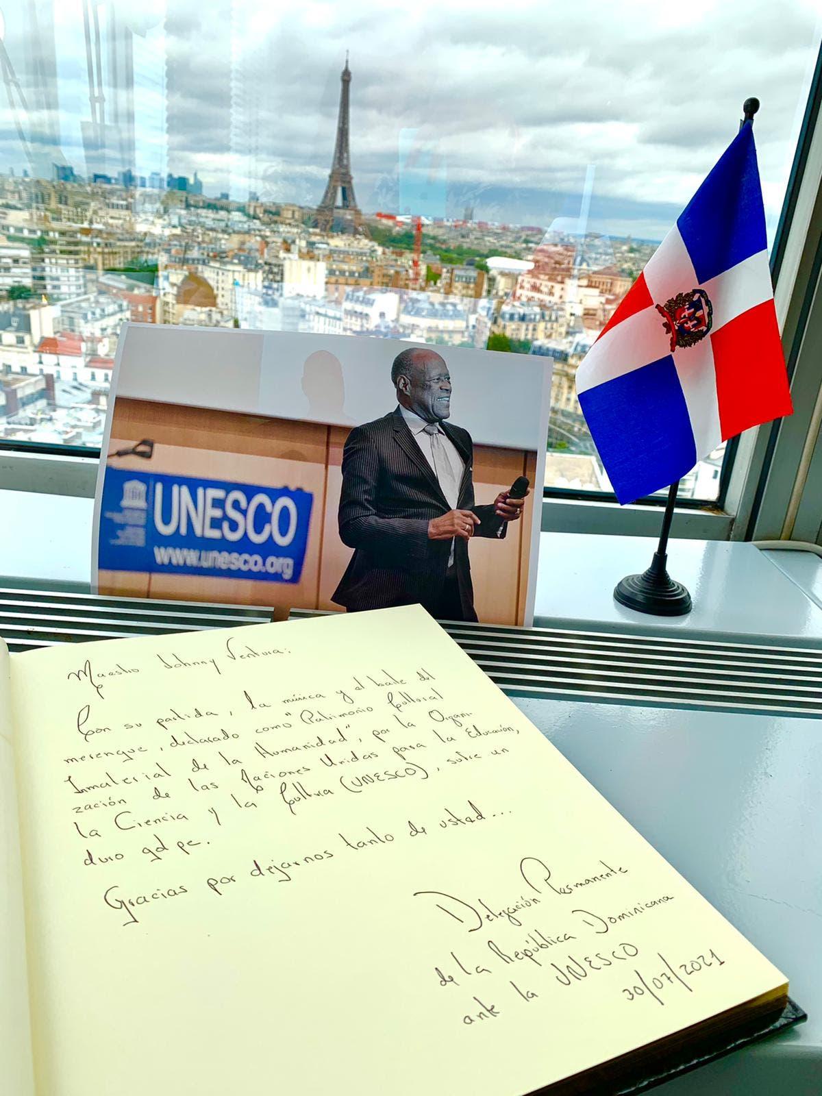 París: RD-UNESCO abre libro de condolencias en homenaje a Johnny Ventura