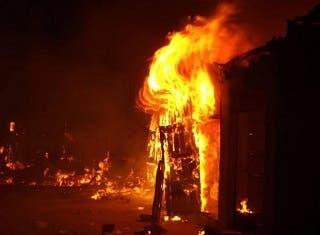 Fuego consume vivienda en Dajabón