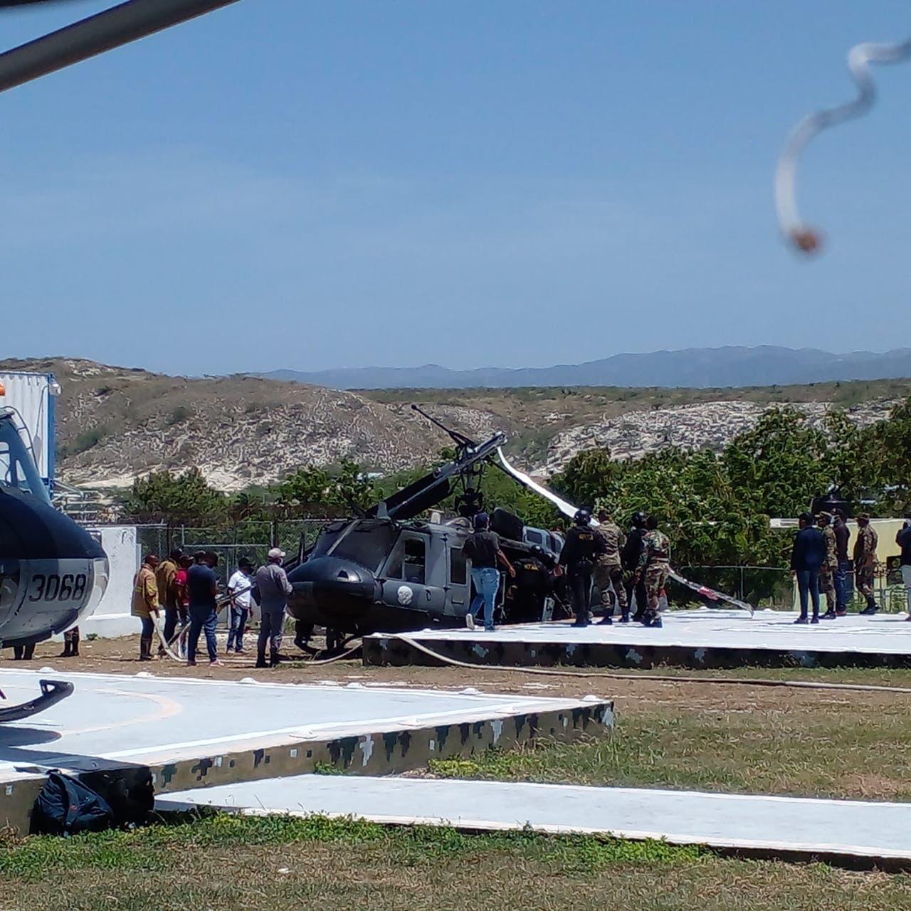 Cae helicóptero de la Fuerza Aérea en Jimaní
