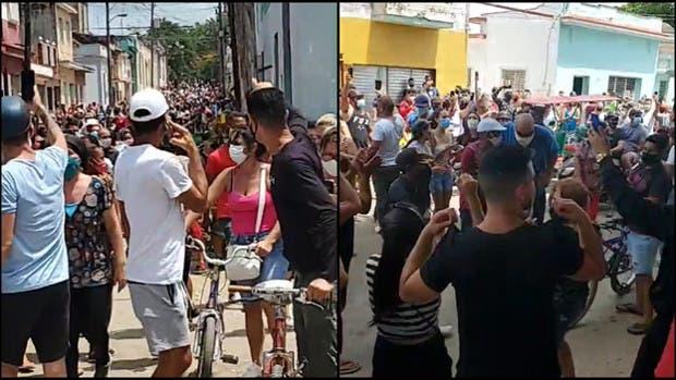 Inusual multitudinaria protesta en Cuba