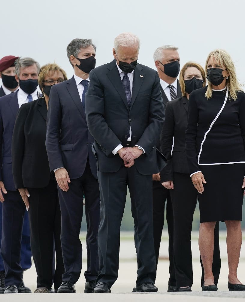 Biden honra militares muertos en Afganistán