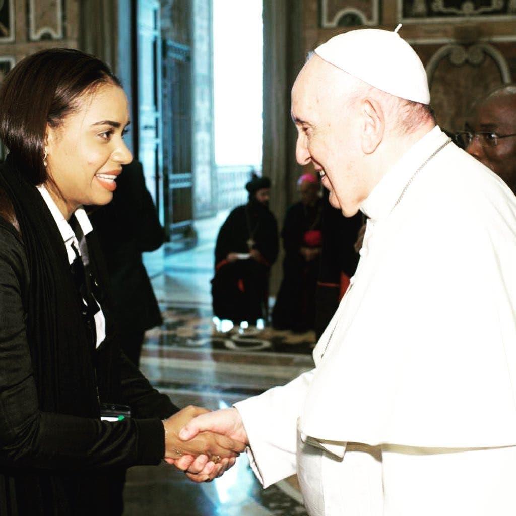 El mensaje que el papa Francisco le envió a RD con la diputada Betty Gerónimo