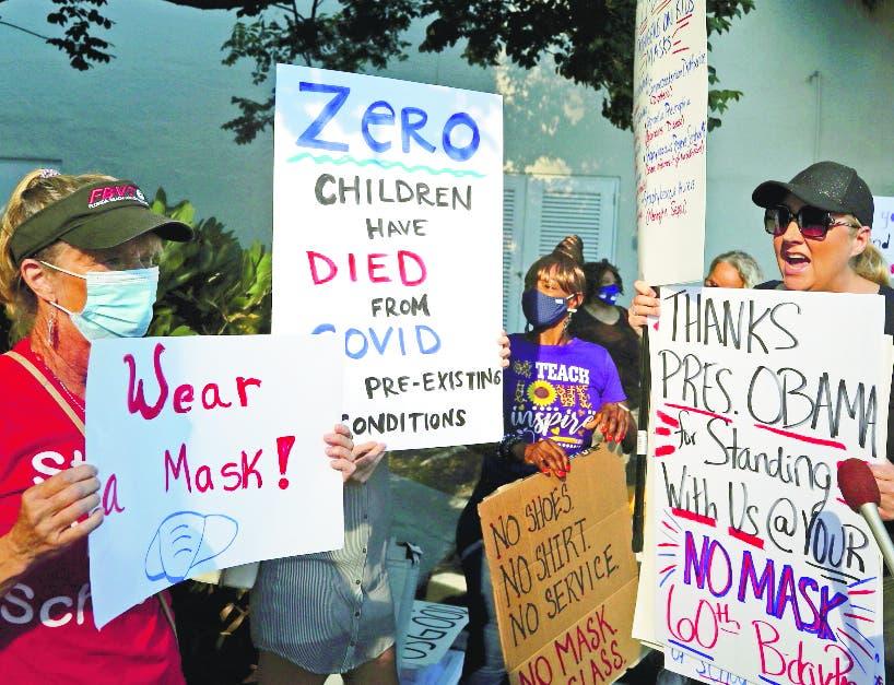 Regreso de niños a las aulas en EEUU provoca tensión