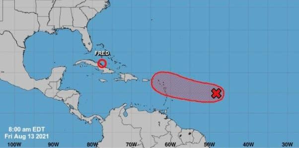 RD vigila otro fenómeno atmosférico, con  80% de probabilidad de convertirse en ciclón tropical