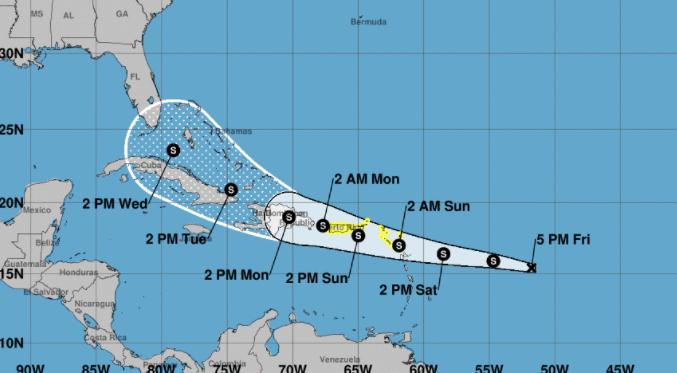 Se forma esta tarde la depresión tropical número 7