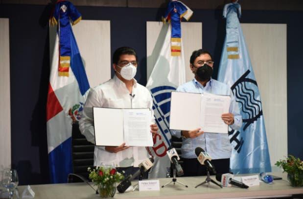 CAASD e INDRHI firman convenio para fortalecer suministro y abastecimiento de agua