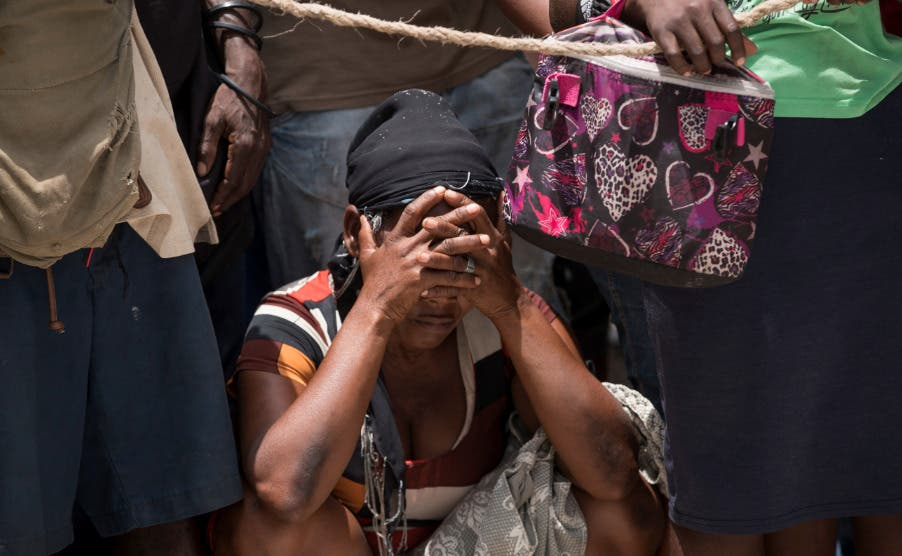 El hambre genera desórdenes durante reparto de comida tras terremoto en Haití