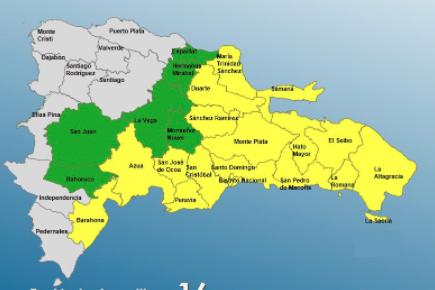 COE agrega dos provincias más para alcanzar 22 en alerta por tormenta tropical Grace