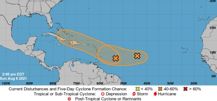 Onamet dice continuarán las lluvias hoy y mañana; vigilan sistemas tropicales que podrían afectar a RD