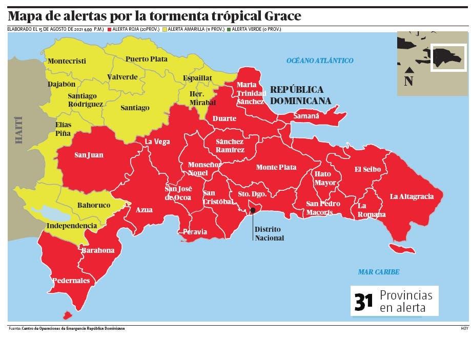 Grace se degrada a depresión tropical pero país sigue alerta