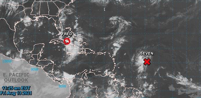 Onamet: Perturbación tropical en el Atlántico se convertiría en tormenta este sábado