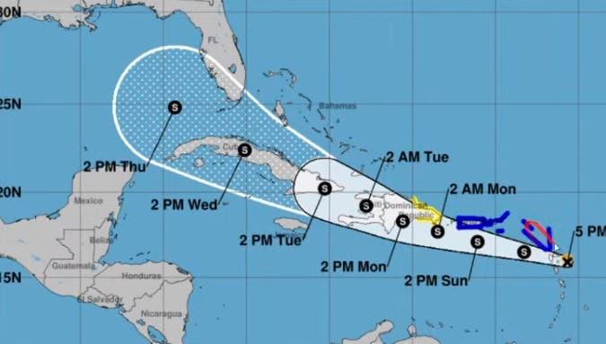 Tormenta Grace se degrada a depresión tropical en ruta a República Dominicana y Haití