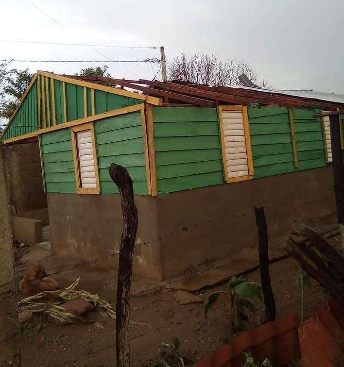 Familias en Dajabón pierden parte de sus hogares por fuertes vientos y aguaceros