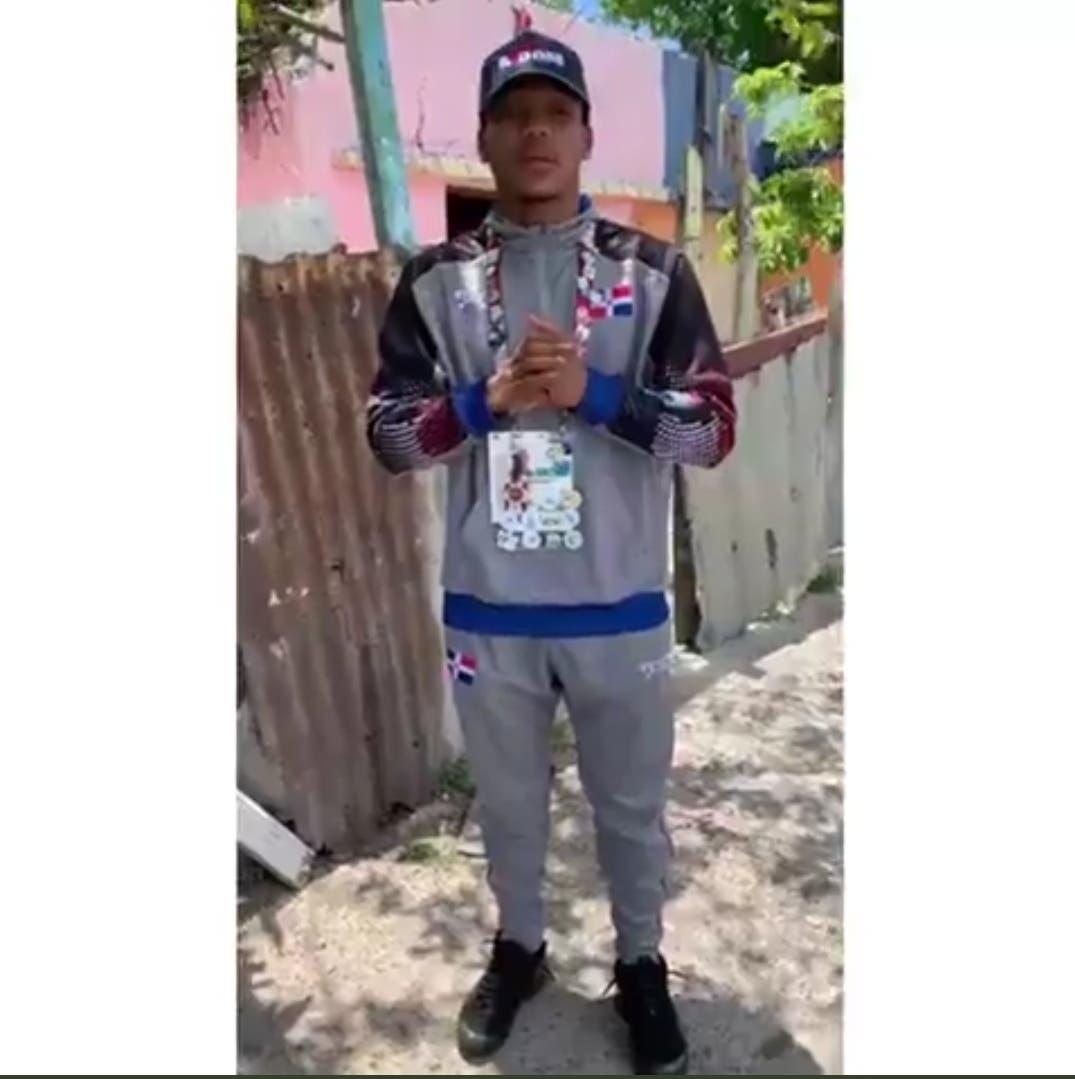 VIDEOІ Boxeador dominicano que participó en Juegos Tokio 2020 pide al presidente casa para su madre