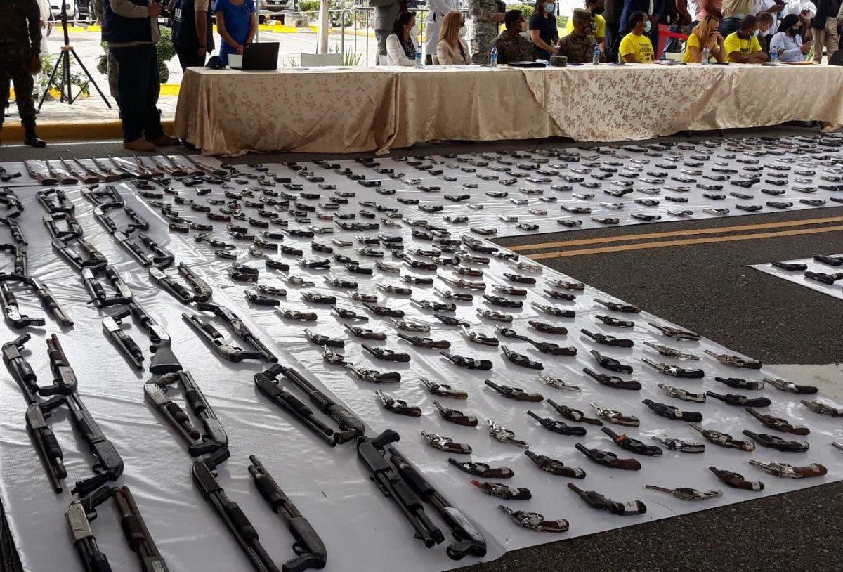 Gobierno destruye 803 armas ilegales recuperadas en primera fase del Plan de Seguridad Ciudadana