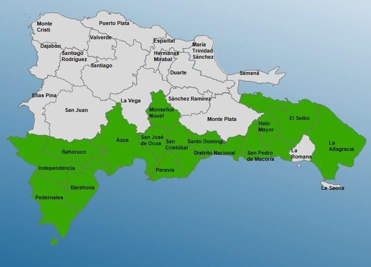 COE baja a 15 las provincias en alerta tras el paso de Grace