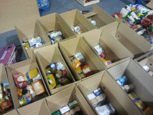 Imagen ilustrativa cajas de comida enviadas hacia Haití por EEUU. Fuente externa.