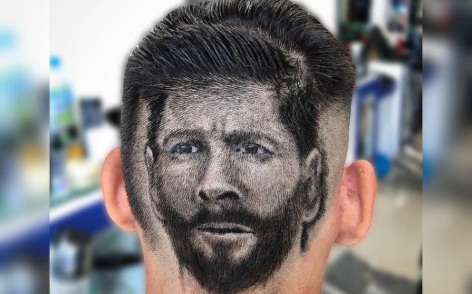 Video: Peluquero venezolano en RD plasmó el rostro de Lionel Messi en corte de pelo