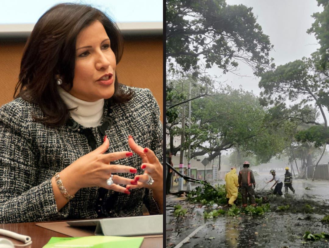 Margarita Cedeño cuestiona acciones preventivas de autoridades ante paso de Fred