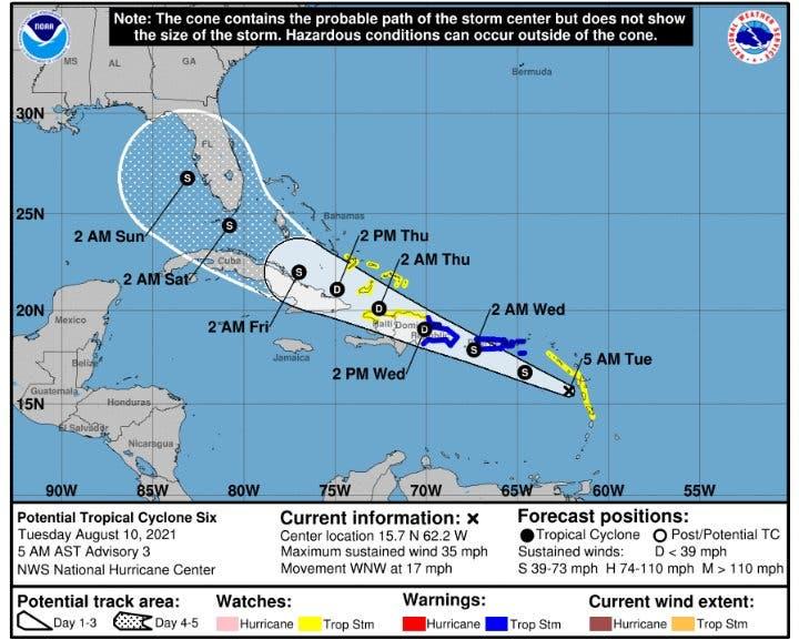 Potencial ciclón tropical llegaría al país entre madrugada y mañana de este miércoles