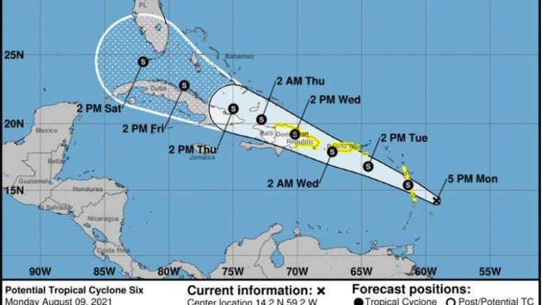 Emiten alertas por tormenta tropical en islas del Caribe