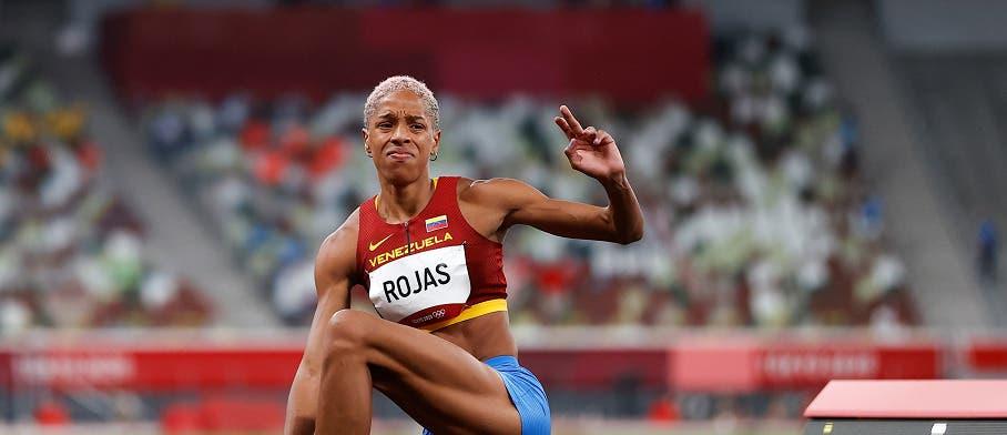 Yulimar Rojas, oro y récord mundial de triple salto