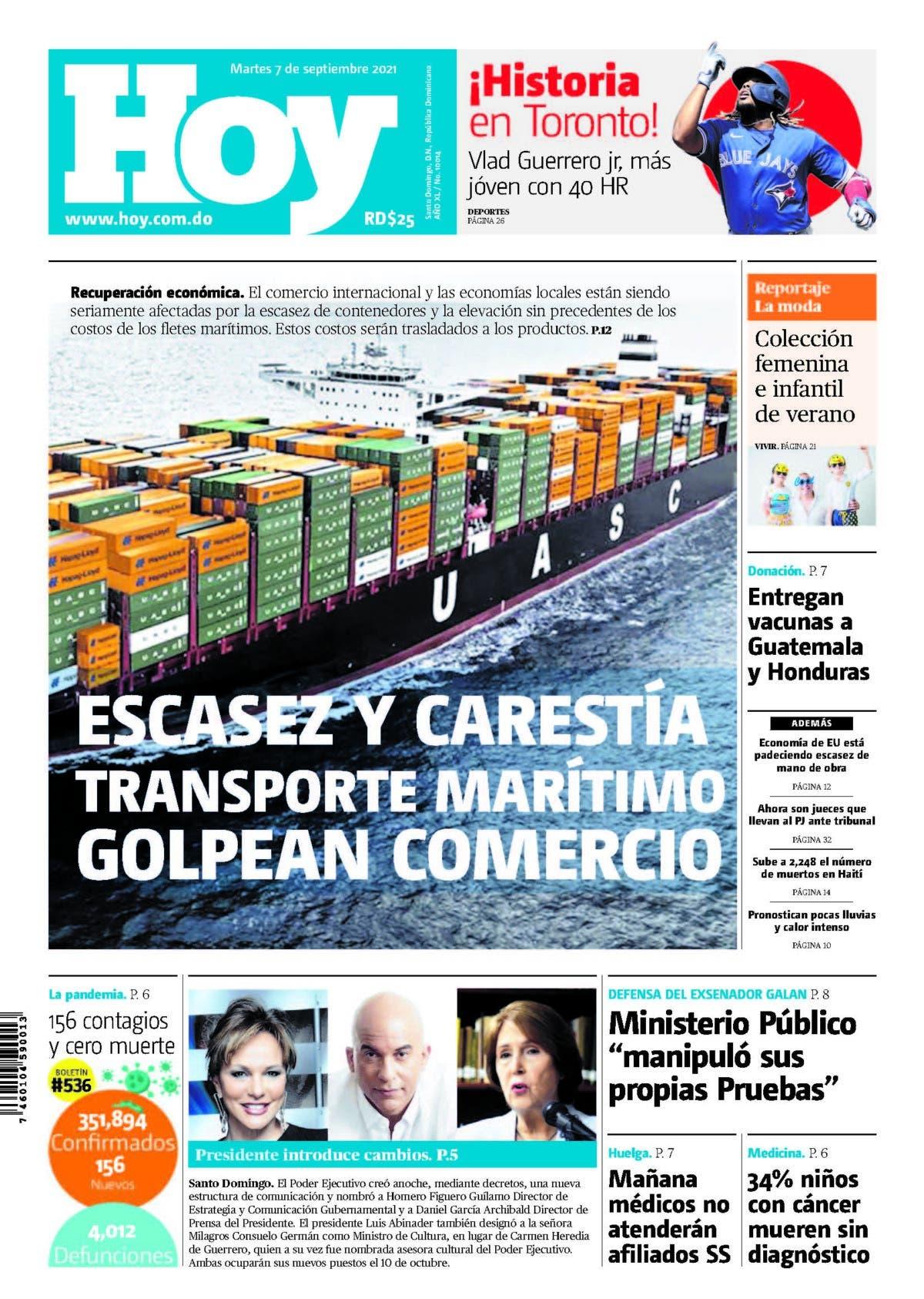 Edición impresa HOY martes 07 de septiembre del 2021