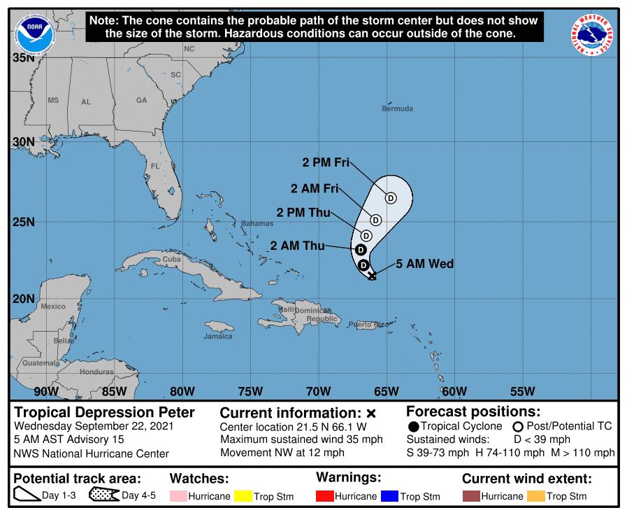 Peter baja a depresión tropical; parte norte del país continuará afectada