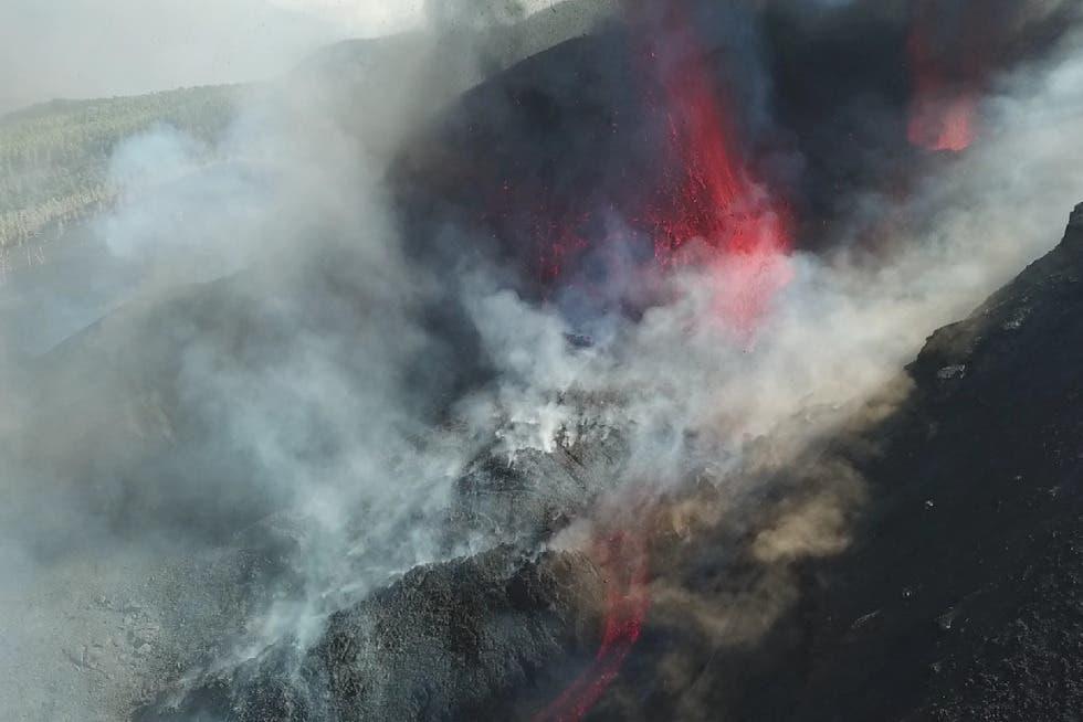 Las cenizas del volcán cubren 1.314 hectáreas, según satélites Copernicus
