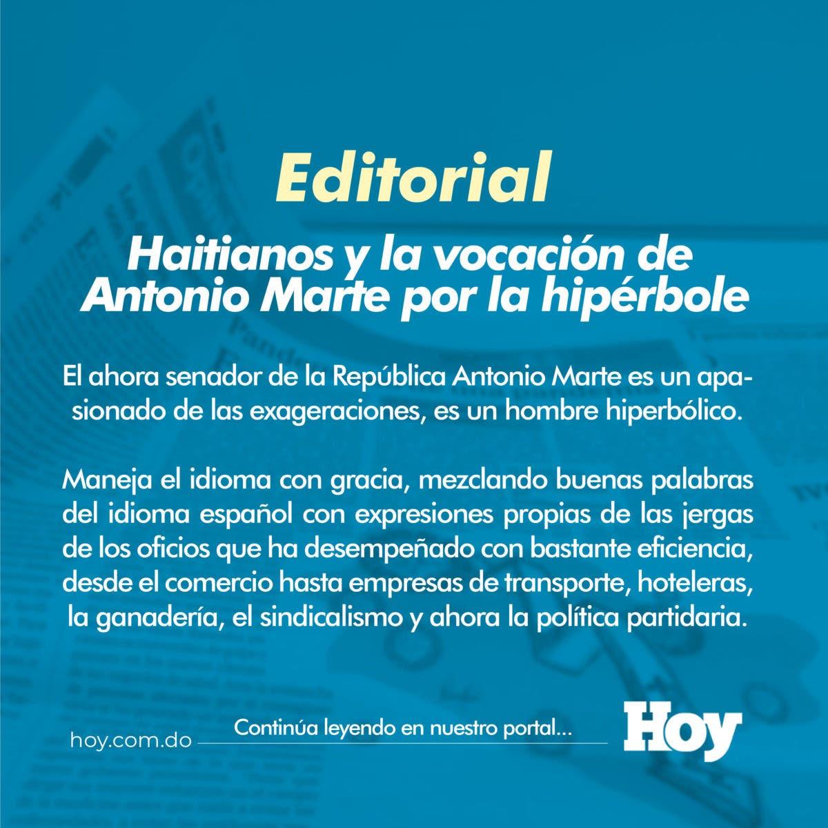 Haitianos y la vocación de Antonio Marte por la hipérbole