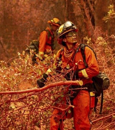 Avanza combate a incendio California