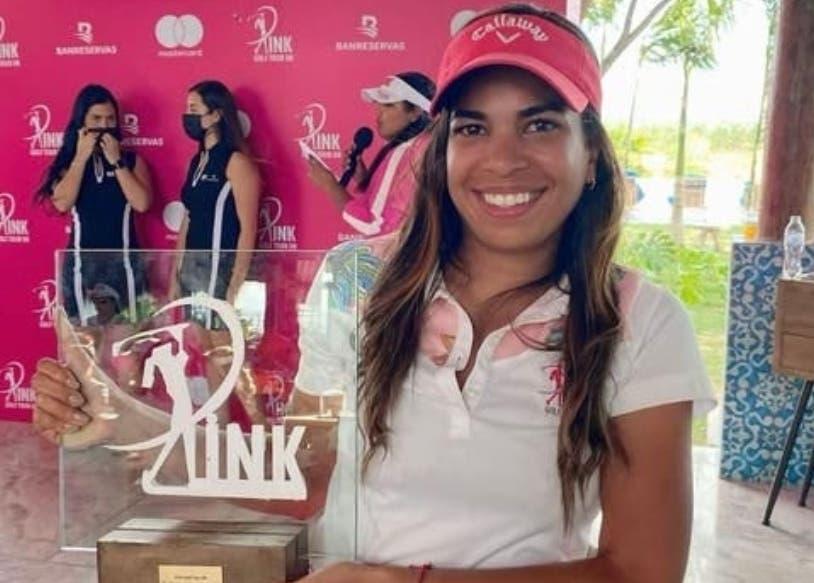 Mariel Villalona gana la categoría B en parada Pink Golf
