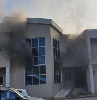 Incendio en Palacio Justicia de Bonao