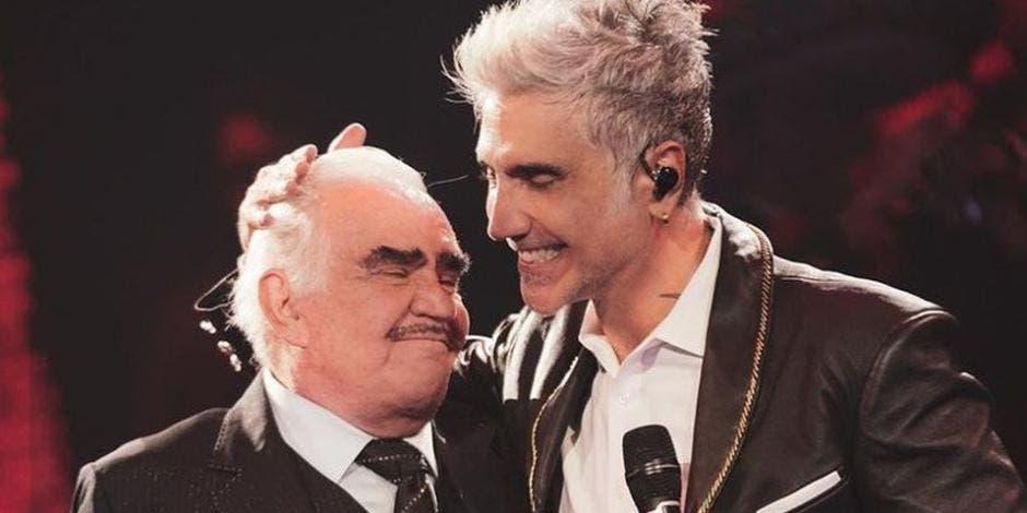 «El Potrillo» no contuvo las lágrimas al dedicarle canción a su padre Vicente Fernández