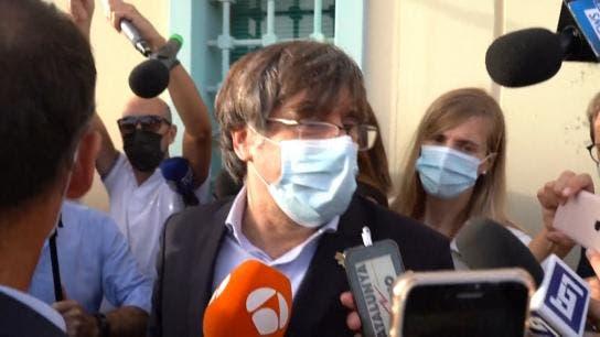 Puigdemont sale en libertad de la cárcel de máxima seguridad en isla de Cerdeña