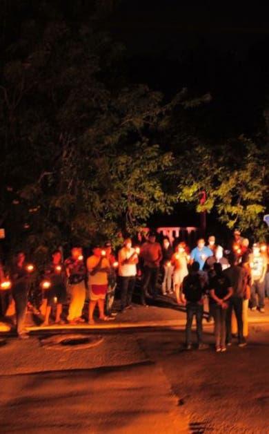 Protestas con vigilia contra el incremento de los asaltos