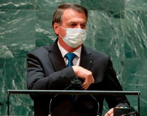 """Bolsonaro defiende """"tratamiento precoz"""" contra el COVID-19 en la ONU"""