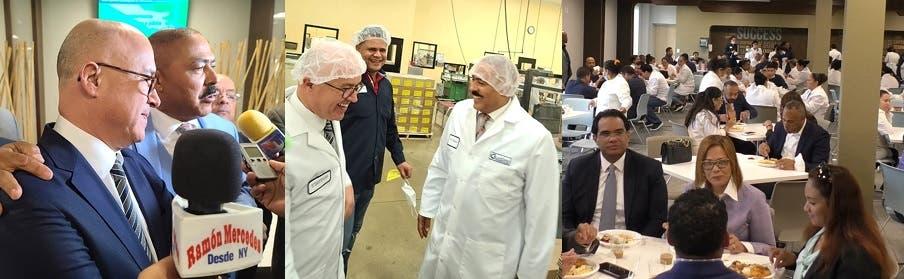 Domínguez Brito visita cientos de trabajadores industria Nueva Jersey