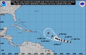 Tormenta tropical Sam se forma en el Atlántico