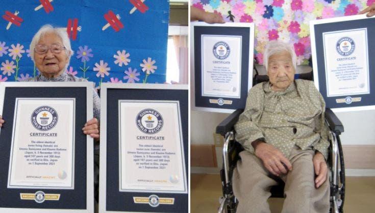 Gemelas japonesas de 107 años rompen récord Guinness de longevidad