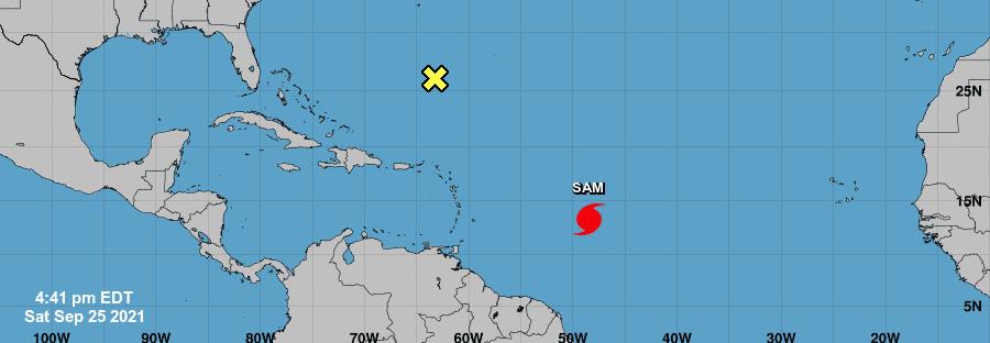 Huracán Sam se intensifica con vientos en categoría 4; no amenaza por ahora a tierra