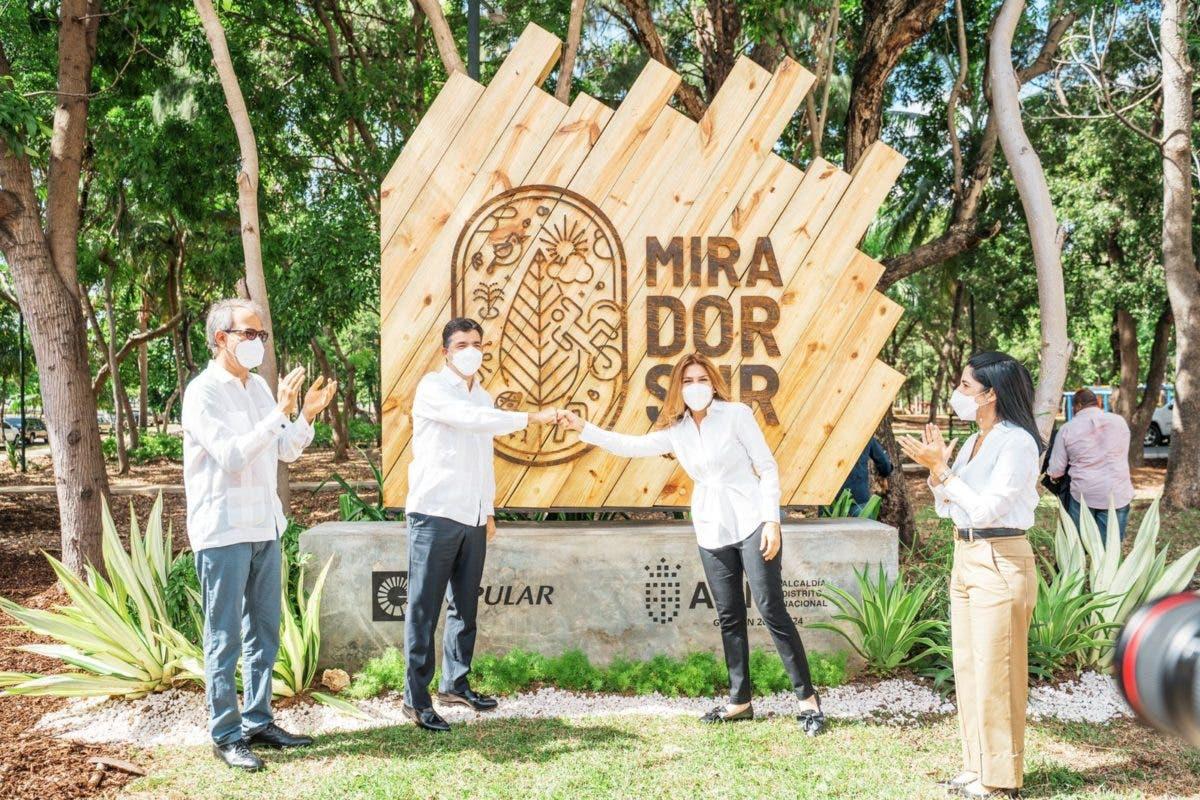 ADN y Banco Popular muestran avances de remodelación del Parque Mirador Sur