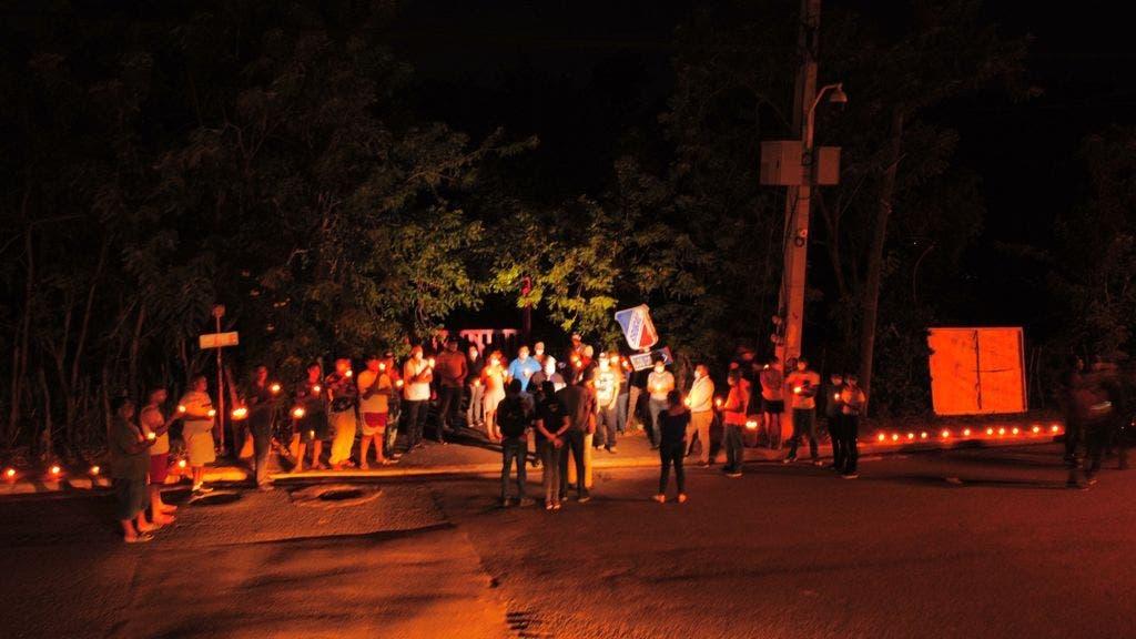 Protestas contra el auge de la delincuencia en Santiago