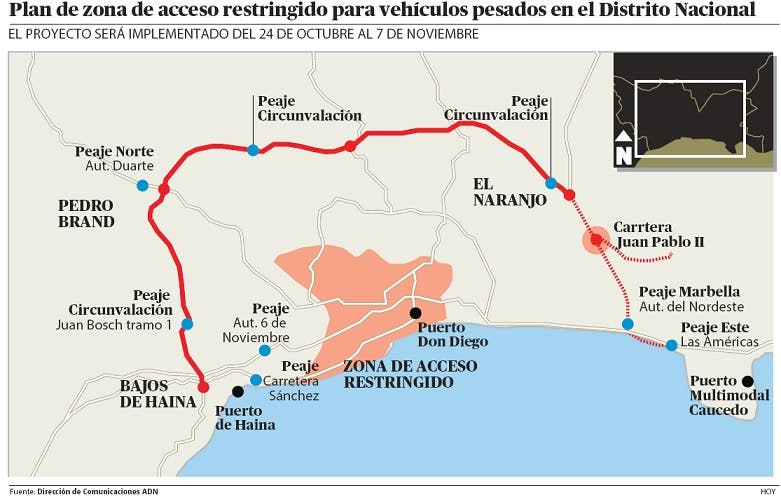 Camiones no podrán circular por las calles y avenidas de SD