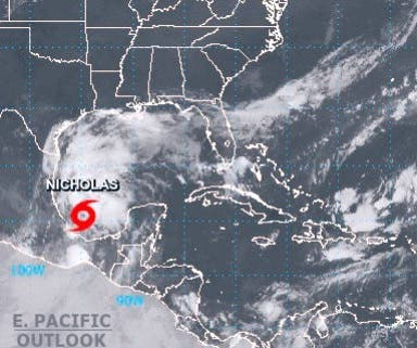 Se forma la tormenta tropical Nicholas