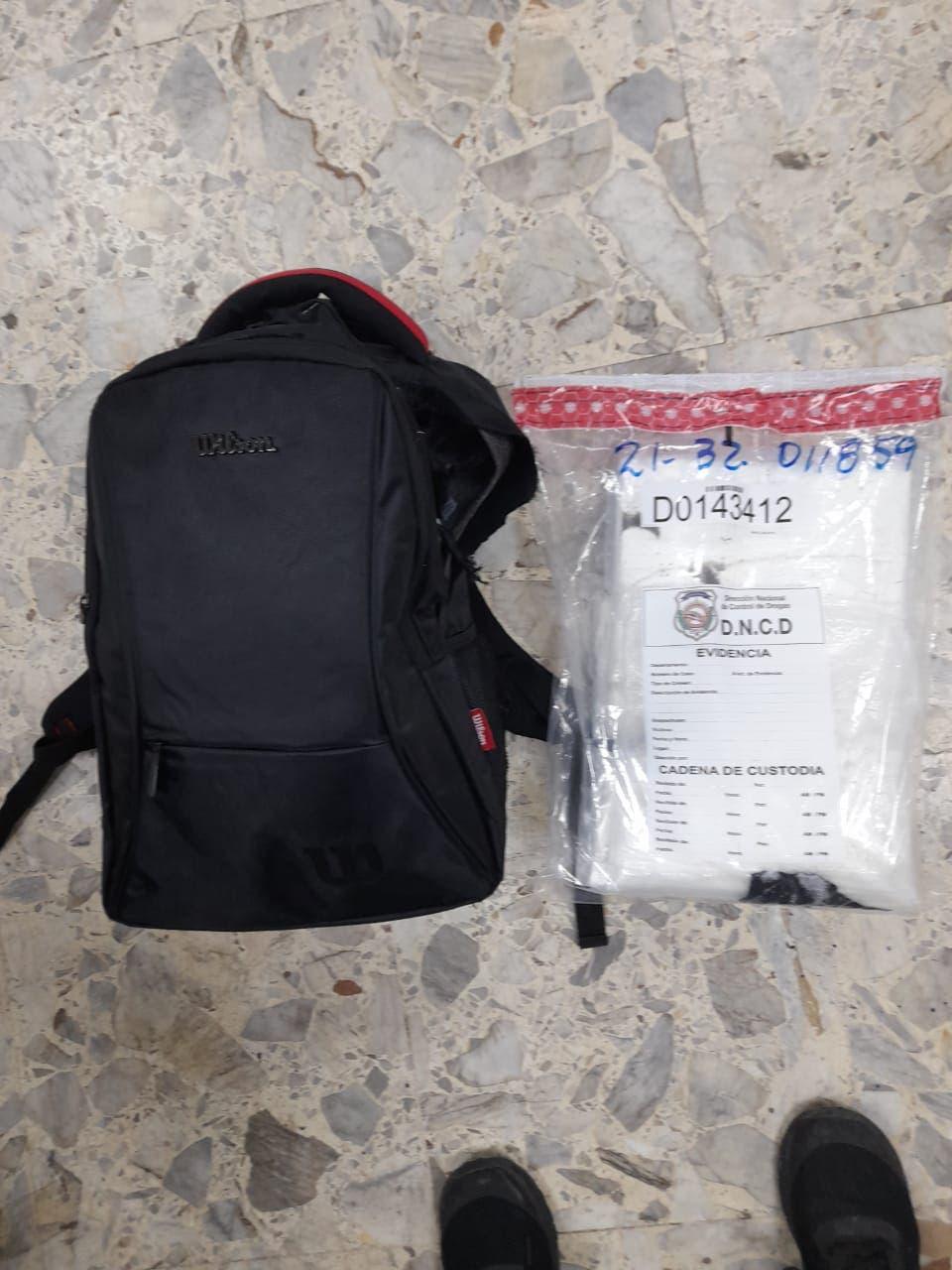 AILA: Joven llevaba más de tres kilos de cocaína en mochila