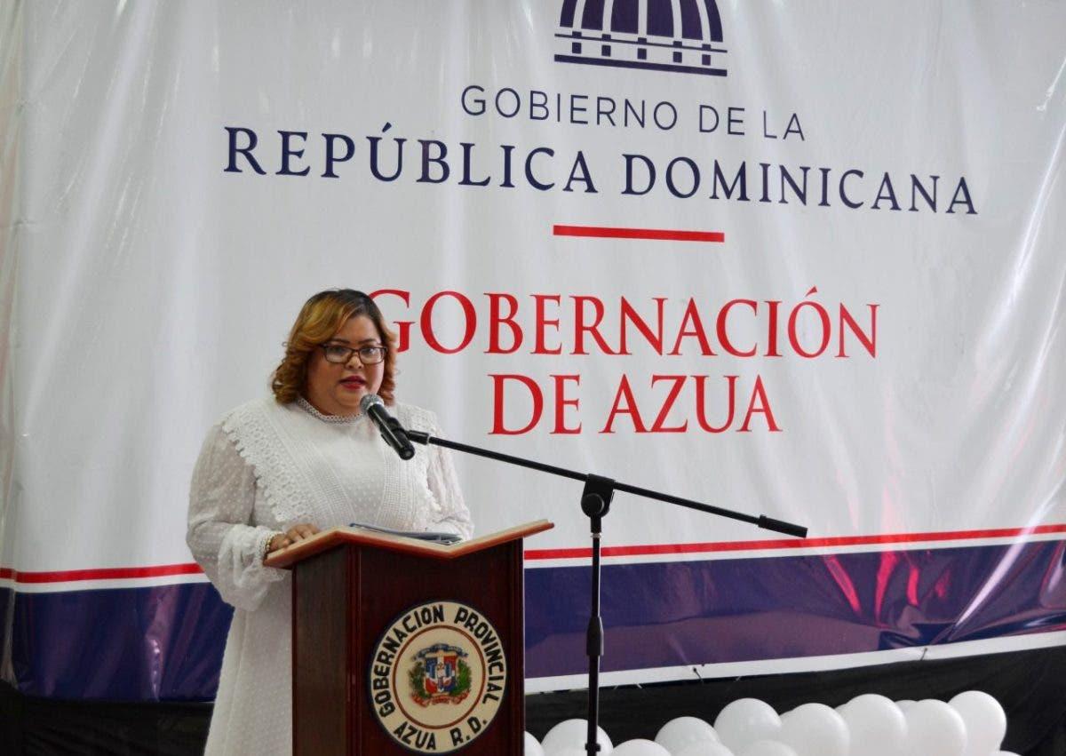 Gobernadora de Azua rinde cuentas durante su primer año de gestión